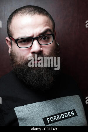 Berlin, Germany, Syrian YouTuber Firas al-Shater - Stock Photo