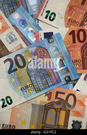 Berlin, Germany, euro bills - Stock Photo