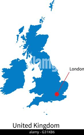 United Kingdom Political Map with capital London, national borders Stock Photo, Royalty Free ...