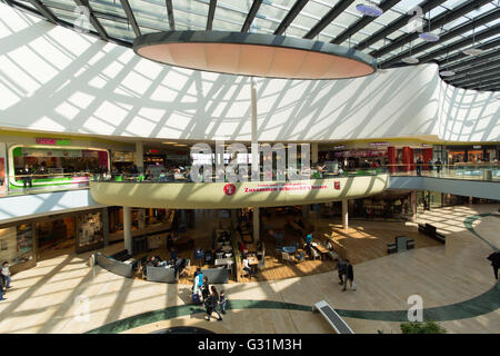 Ludwigshafen, Germany, people in the Rhein-Galerie - Stock Photo