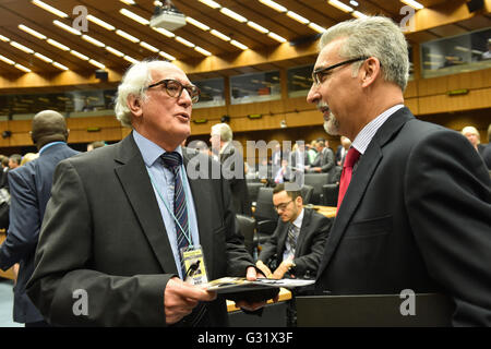 Vienna, Austria. 6th June, 2016. Brazil Ambassador to the IAEA and Chairman of the IAEA Board of Governors Laercio - Stock Photo