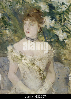 Berthe Morisot - Young Girl in a Ball Gown   - Musée d'Orsay, Paris - Stock Photo