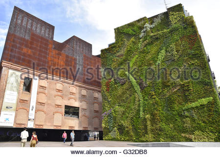 Green vertical garden house facade in madrid spain europe - Garden center madrid ...