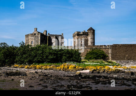 Blackness Castle on the Firth of Forth taken from the shore - Stock Photo