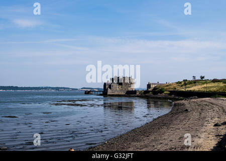 Stunning Blackness Castle on the Firth of Forth, Scotland - Stock Photo