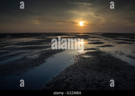 Stiffkey Saltmarshes at sunrise, Norfolk - Stock Photo