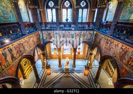 Interior of Scottish National Portrait Gallery in Edinburgh , Scotland, United kingdom - Stock Photo