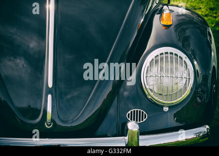 1965 VW Beetle car front end - Stock Photo