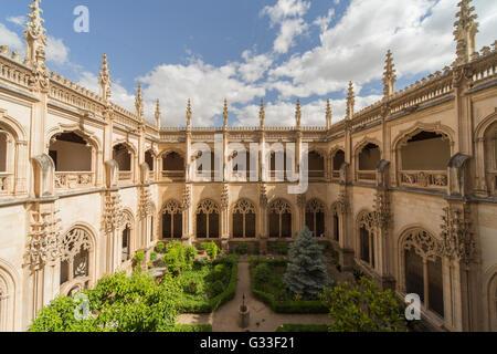 Monastery of Saint John of the Kings in Toledo Spain  Interior Cloister garden (The Monastery of San Juan de los - Stock Photo