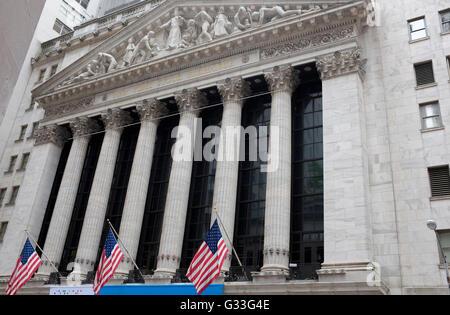 New York Stock Exchange, New York City, USA - Stock Photo