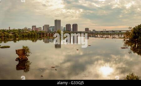 Richmond Skyline at Sunset - Stock Photo
