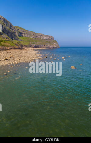 Llandudno coast and Orme in Conwy County Borough, Wales, located on the Creuddyn peninsula - Stock Photo