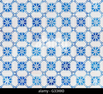 seamless pattern made of traditional Portuguese tiles - Azulejos, Portugal - Stock Photo