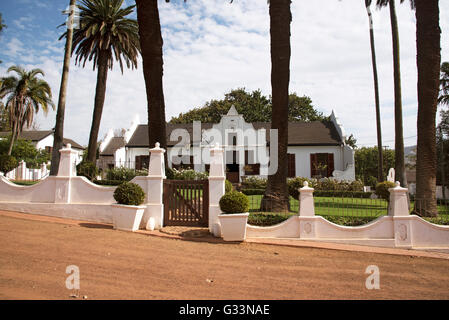 DURBANVILLE CAPE TOWN SOUTH AFRICA  The manor house at Diemersdal a wine producing estate in Durbanville north of - Stock Photo