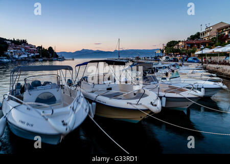 The Harbour At Kassiopi, Corfu, Greece - Stock Photo