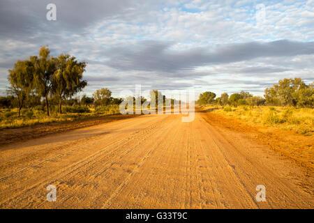 Plenty Hwy near Gemtree in the Northern Territory, Australia - Stock Photo