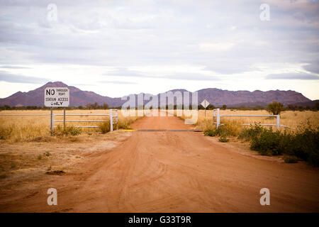 A cattle station near Gemtree in the Northern Territory, Australia - Stock Photo