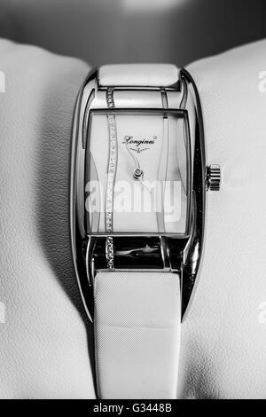 Longines ladies luxury watch jewellery - Stock Photo
