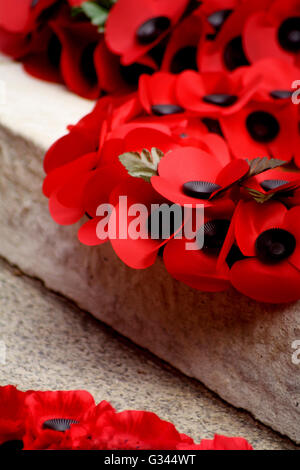 Abstract Poppies The Cenotaph Whitehall London England - Stock Photo