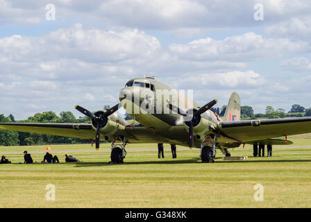 The Douglas C-47 Skytrain or Dakota a military transport aircraft used extensively in World War 2 - Stock Photo
