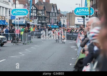 A cycling event in Croydon surrey UK, the Pearl Izumi Tour Series 2016 on th 7h of June 2016 - Stock Photo