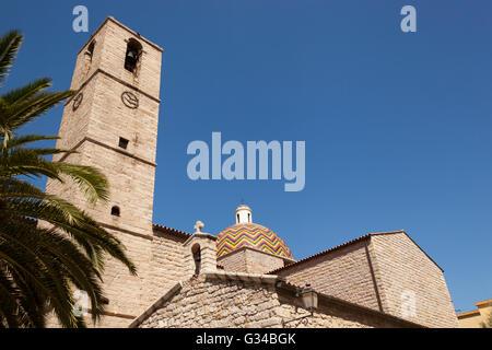 Chiesa Di San Paolo, Saint Paul's Church, Olbia, Sardinia, Italy - Stock Photo