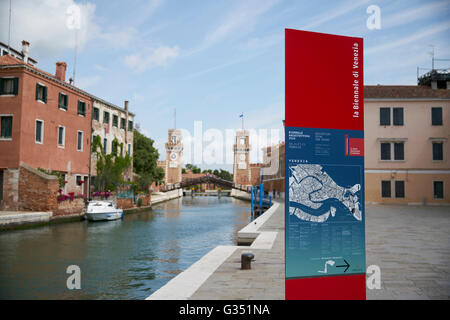 'Reporting From the Front.' The Architecture Biennale in Venice Italy 2016. - Stock Photo