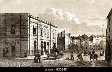 The Theatre Royal, Drury Lane,  Covent Garden, West End, London, England, 1809 - Stock Photo