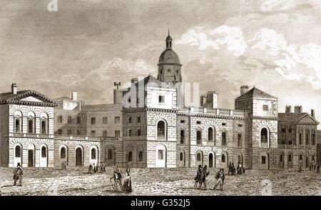 Buckingham House,  St. James's Park, Fleet Street, London, England, 19th century - Stock Photo