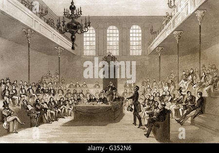 The House of Commons, London, England, 19th century - Stock Photo