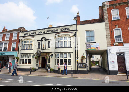 The Angel Inn And Posting House High Street Pershore Wychavon Worcestershire UK - Stock Photo
