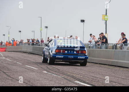 Touring Cars at The Bournemouth Wheels Festival 5th June 2016 - Stock Photo