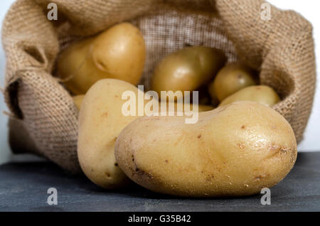 SAC DE POMMES DE TERRE - Stock Photo