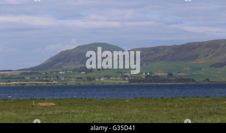 Loch Leven and West lomond Hill Scotland  June 2016 - Stock Photo