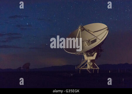 Night sky at the Very large Array-National Radio Astronomy Observatory, New Mexico, USA. - Stock Photo