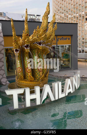 MILAN, ITALY - JUNE 29 2015: Close up of Thailand Pavilion at Expo, Exposition Universal on the theme on food in - Stock Photo