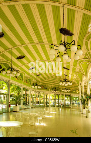 Vichy spa Halle des Sources / Hall of the Springs building in the park, Vichy, Allier, France - Stock Photo