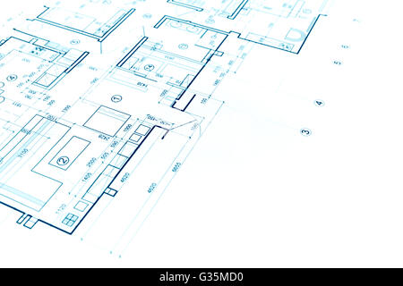Part of blueprint floor plan technical drawing background stock construction plan blueprint part of architectural project architectural background stock photo malvernweather Choice Image
