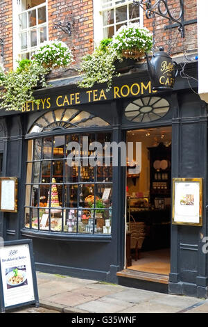Little Betty's Cafe Tea Room Stonegate York North Yorkshire England UK United Kingdom Europe - Stock Photo