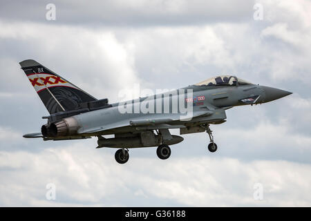 Royal Air Force Eurofighter EF-2000 Typhoons form RAF Coningsby - Stock Photo