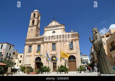 The Cathedral in Hania old town, Crete, Greece - Stock Photo