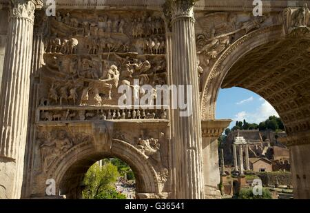 Relief carvings, Triumphal Arch of Septimius Severus ...