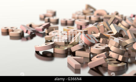 scattered numbers - Stock Photo