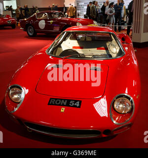 Ron Fry's 1964 Ferrari 250 LM, RON 54, on display in the Earls Court Motor Show recreation, 2015 Goodwood Revival, - Stock Photo