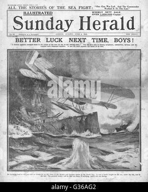 1916 Sunday Herald front page Battle of Jutland - Stock Photo