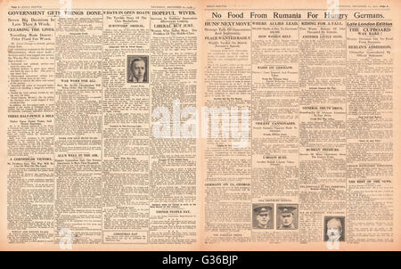 1916 Daily Sketch pages 2 & 3 Hunger in Germany - Stock Photo