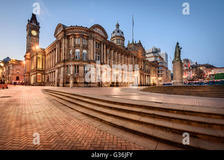 Birmingham Town Hall is a concert hall and  popular for assemblies  and situated in Victoria Square, Birmingham, - Stock Photo