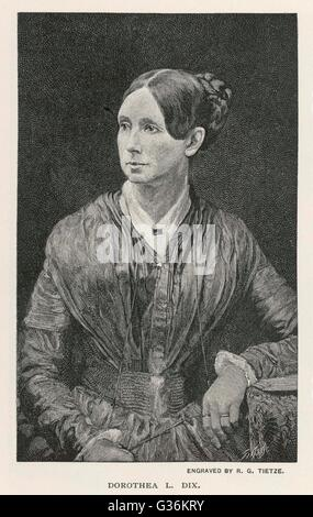 Dorothea Lynde Dix (1802-1887) American reformer - Stock Photo