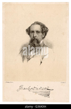 CHARLES DICKENS (1812-1870) English writer. - Stock Photo