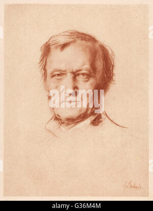 Wilhelm Richard Wagner (1813-1883) German composer - Stock Photo